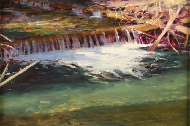 Earl Jones, Little Cottonwood Creek, 1994, oil on canvas, gift of the artist, UMFA1995.001.023.