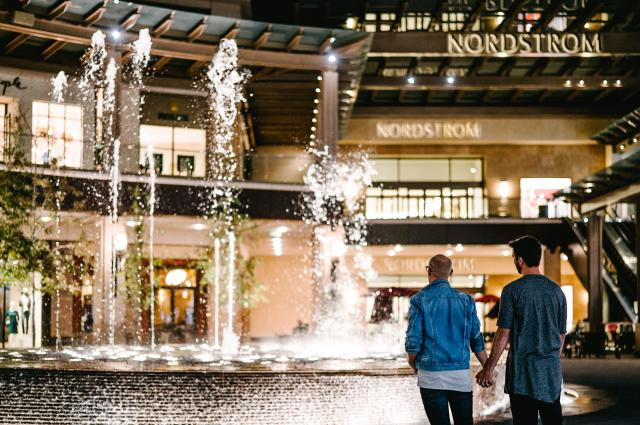 Couple at City Creek Center Fountains
