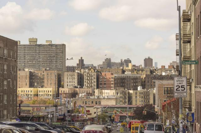 Grand Concourse, street, skyline