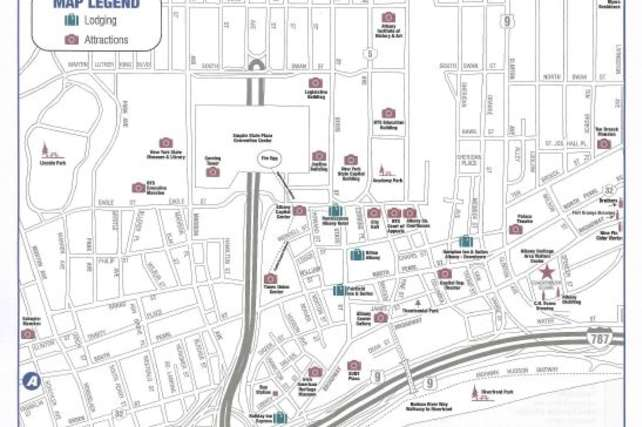 Downtown Albany Map - Front