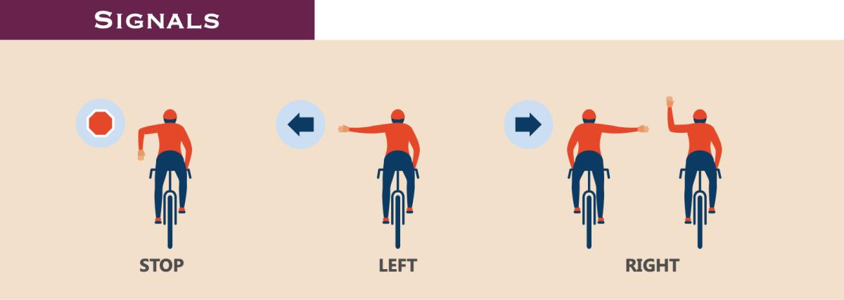 Road biking hand signals