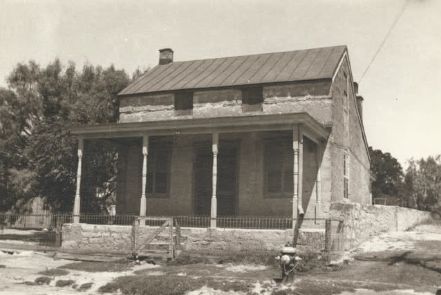 Historic Sunday Houses like this one are a familiar part of Fredericksburg's history.