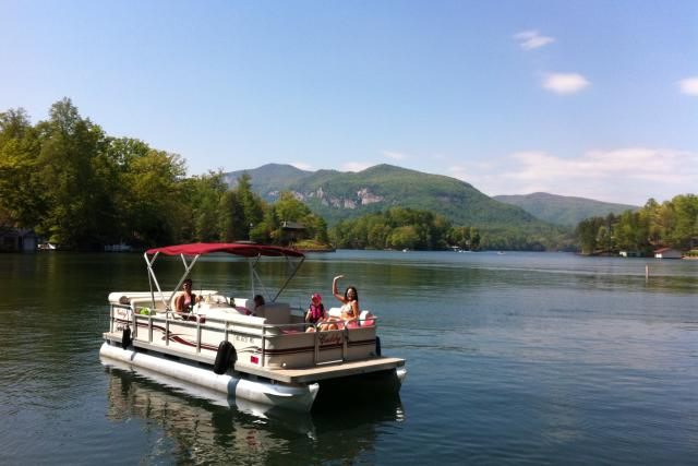 Pontoon Boat Ride on Lake Lure, NC