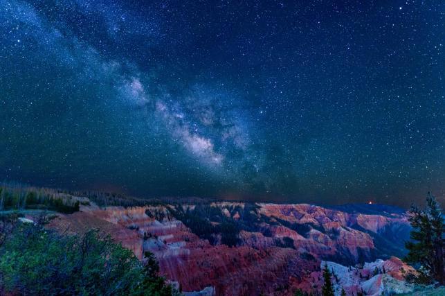Starry night sky in Cedar Breaks National Monument