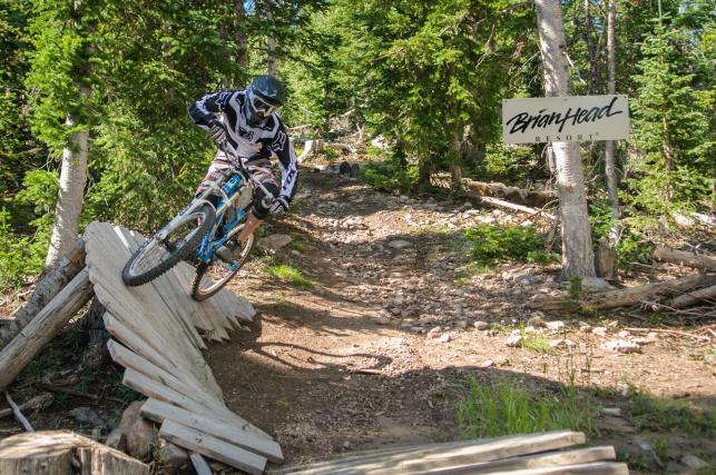 Mountain biking at Brian Head Resort in Cedar City, Utah