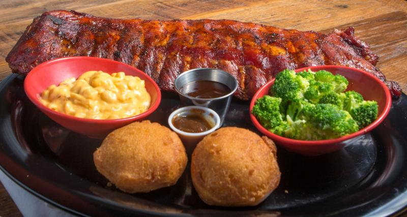 Find these tasty ribs (served with two sides) at Squealer's Award-Winning BBQ in Mooresville.