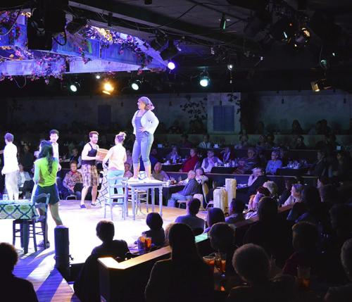 On-stage performance at Derby Dinner Playhouse