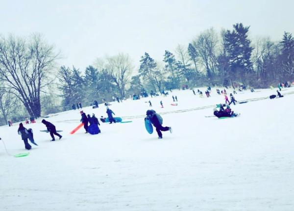 Scioto Park Sledding Hill