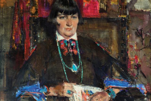 A Portrait of Mabel Dodge Luhan by Nicolai Fechin