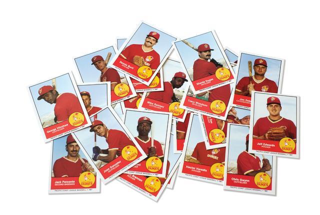 Baseball cards from the 1987 Albuquerque Dukes