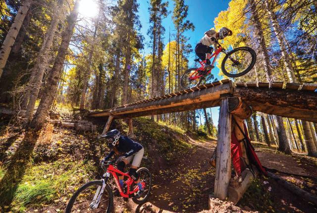 Mountain biking in Angel Fire