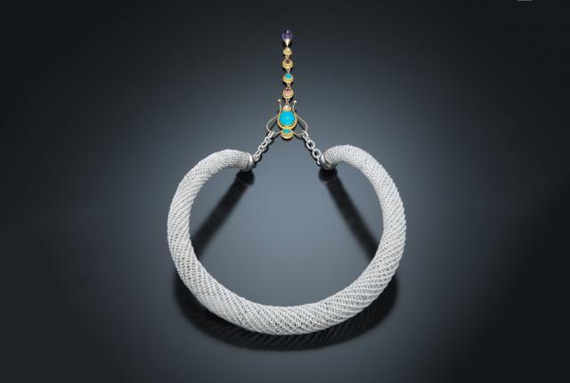 Ousmane Macina's woven-silver choker