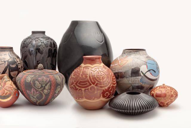Pottery from Potters featured in the book, Spoken Through Clay