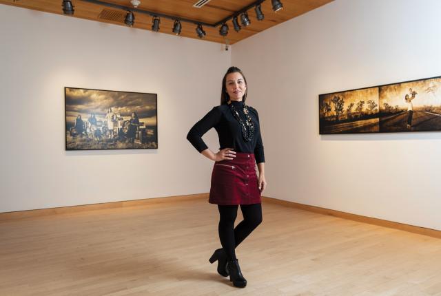 Cara Romero in her studio.