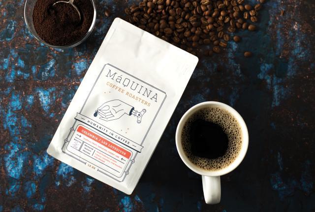 A Bag of Máquin Roasters Coffee from Sky Coffee in Santa Fe