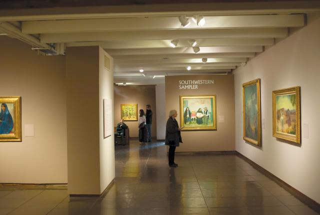 Visitors check out the Museum of Art's alcove offerings