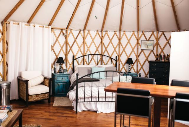 The Khaya Jabula Ranch Yurt, near Edgewood, marries glamour and camping