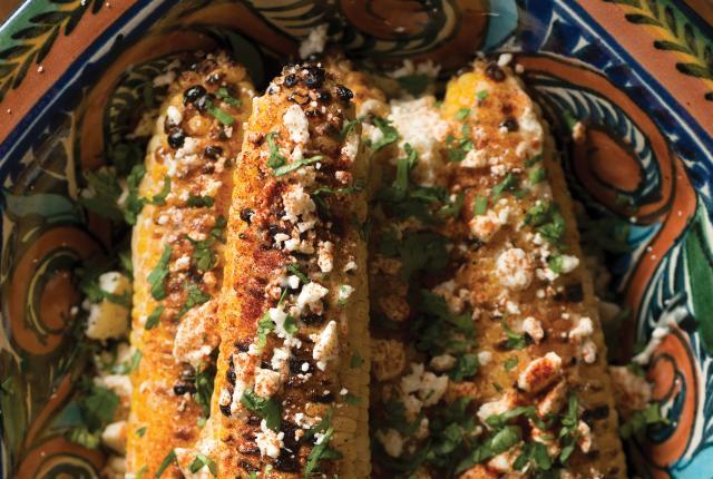 Grilled Corn with Crumbled Tucumcari Cheese