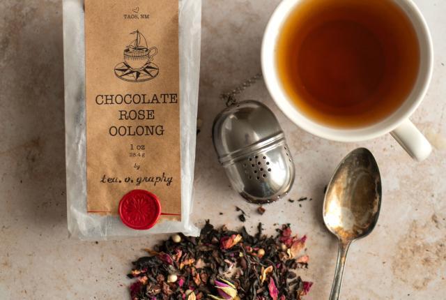 Tea. o. graphy's Chocolate Rose Oolong tea.