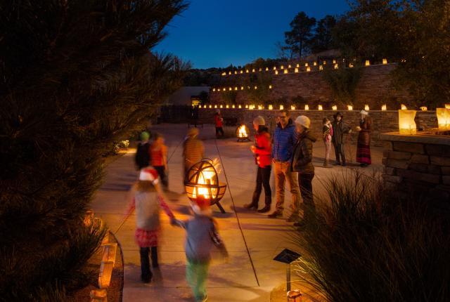 Luminarias in New Mexico