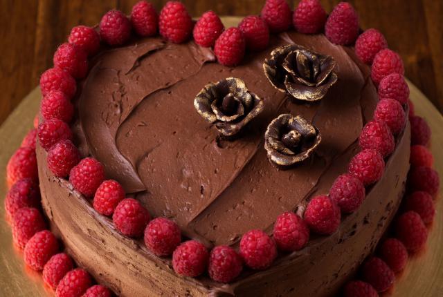 A luscious chocolate buttermilk cake
