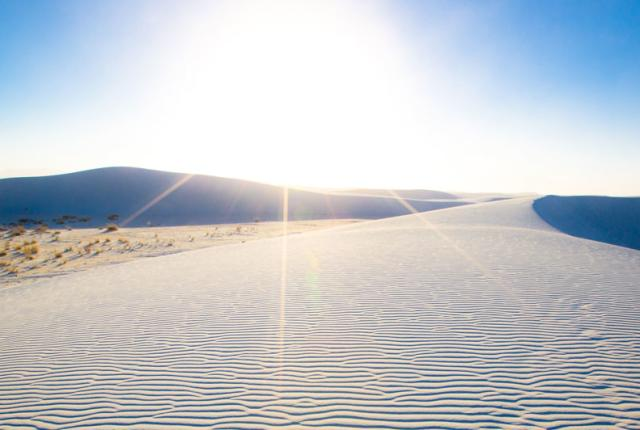 The windswept White Sands National Monument