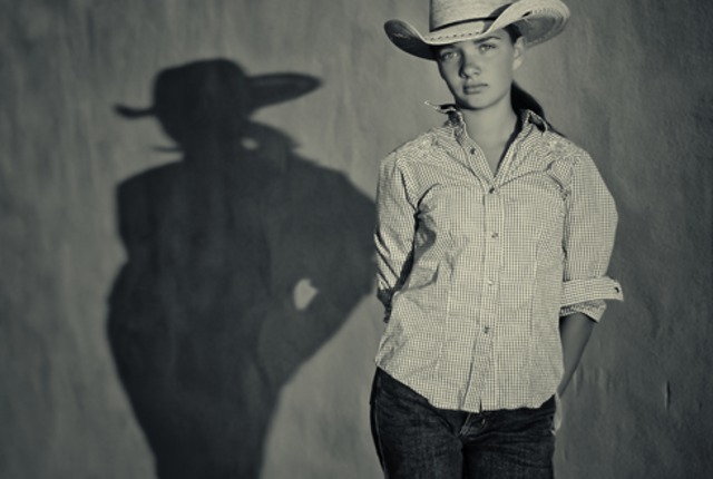 Cowgirl #2_with _Shadow _B&W_by _Robert Mac Dougall _Main