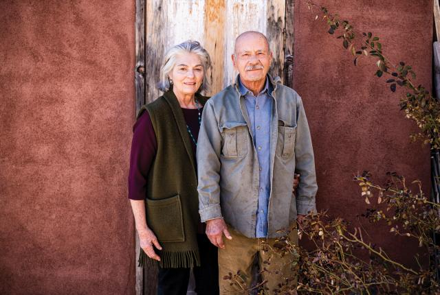 Jane and Steve Darland outside their home.
