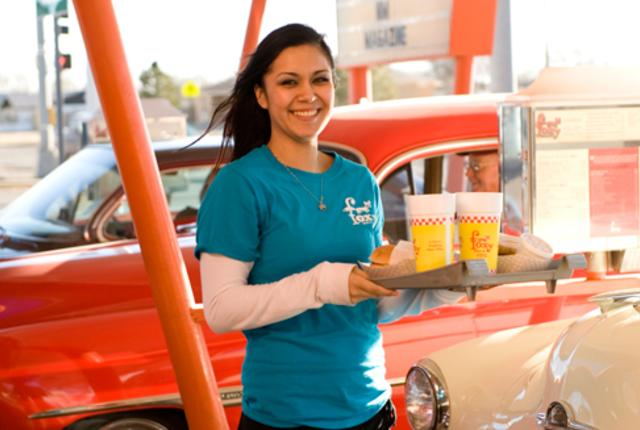 Drive-in diner waitress