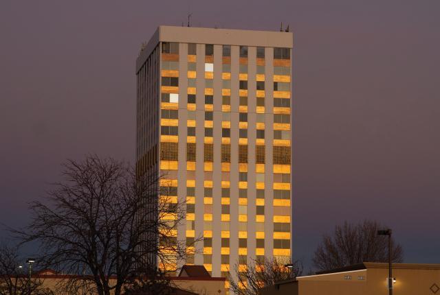 Bank of the West Building, aka Horizons Pillar, in Albuquerque.