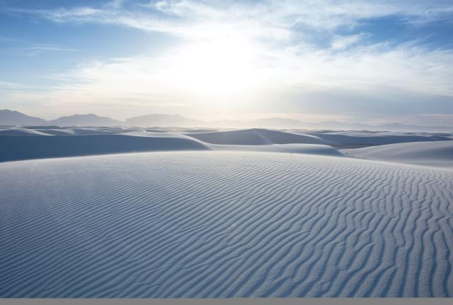 Sand dunes in White Sands National Monument