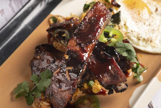 Copy of Korean BBQ Baby Back Ribs with Kimchi Fried Rice