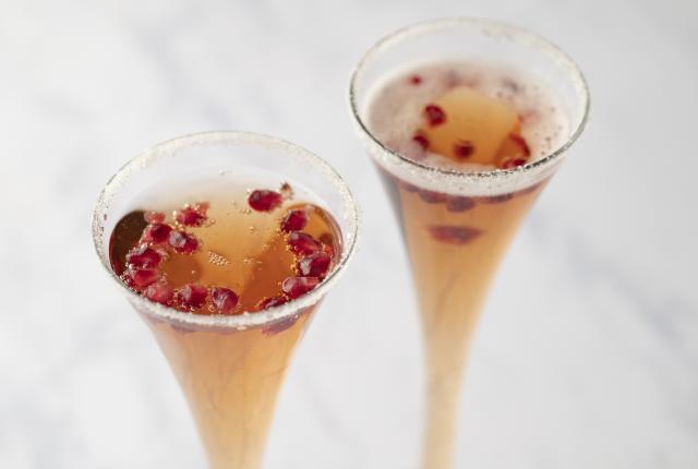 Sparkling Pomegranate Snowflake Mocktail
