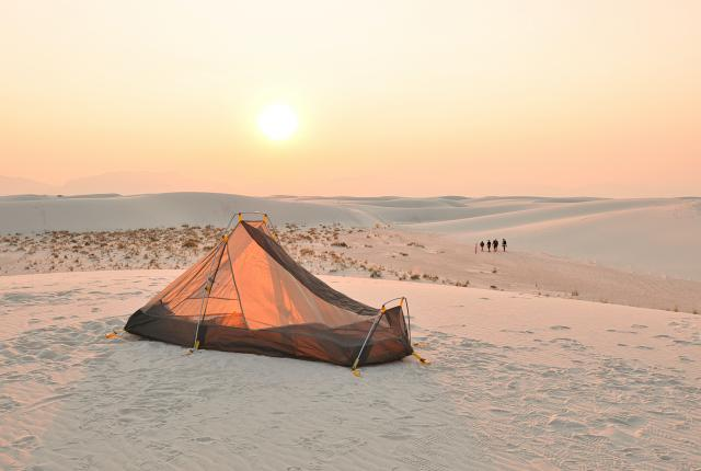 Camping at White Sands National Monument