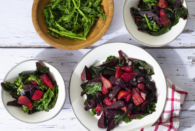 Beets and Greens With Orange and Ginger