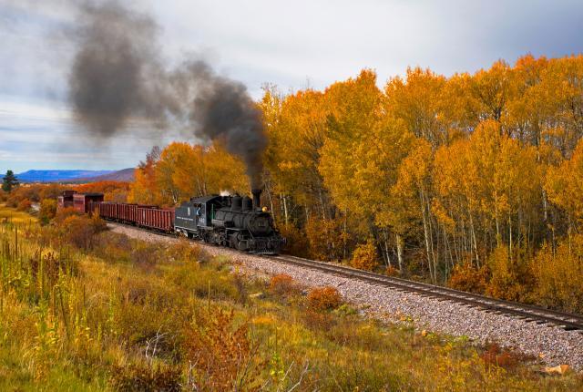 The Cumbres & Toltec Scenic Railroad cuts through aspen groves