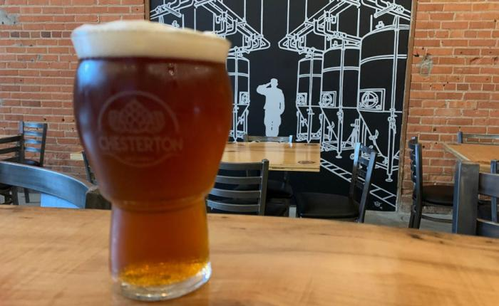 A Chesterton Brewery beer awaits visitors along the  South Shore Brewery Trail.