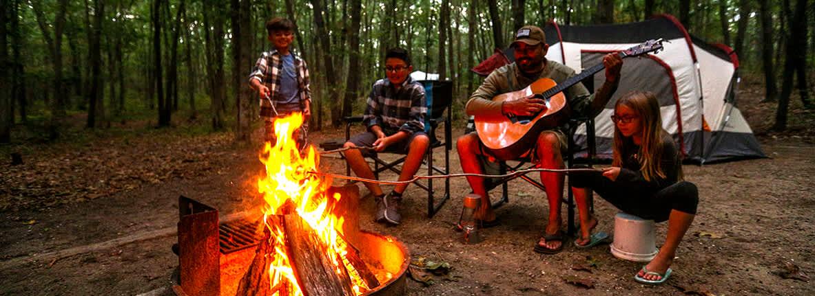 Camping at Dunewood Campground Indiana Dunes