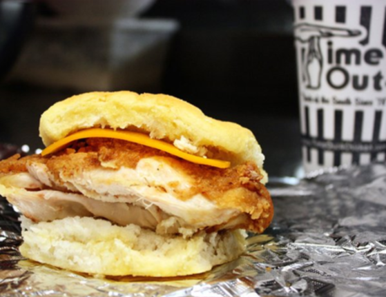 Time-Out Chicken and Cheddar Cheese Biscuit