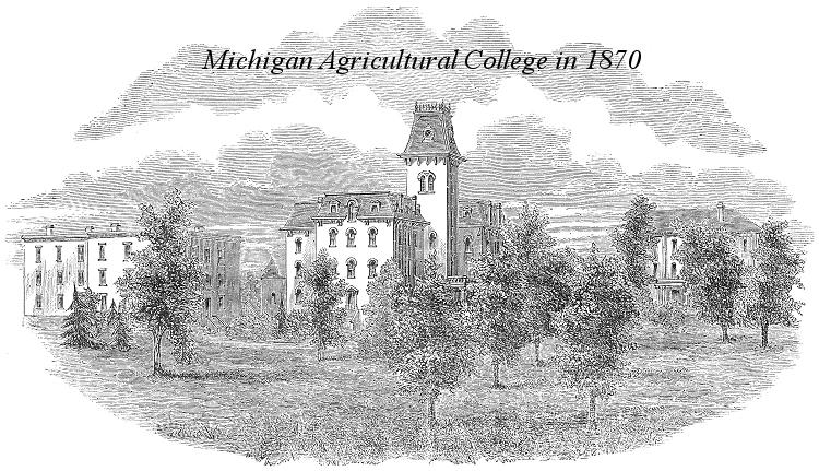 Michigan Agricultural College Drawing