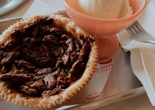 Small pie with ice cream from The Upper Crust in Overland Park.