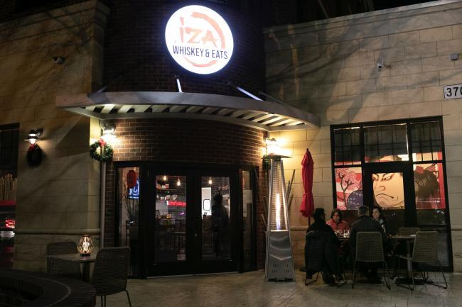 Heated Outdoor Dining at Iza Whiskey and Eats
