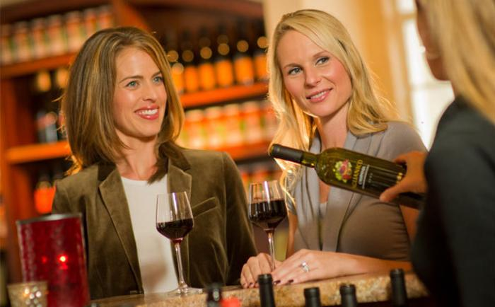 women, wine tasting, scheid