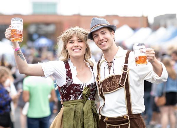 Couple celebrating Oktoberfest