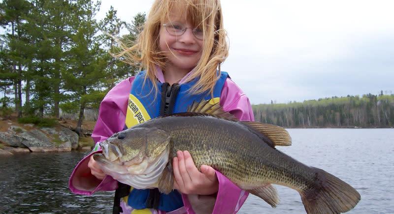 Girl & Bass Fish