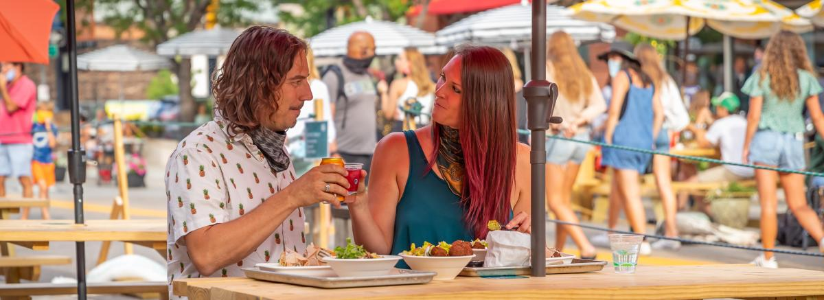 Couple Dining Downtown Boulder