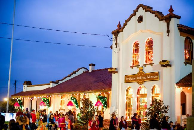 DeQuincy Railroad Museum   Christmas in Southwest Louisiana