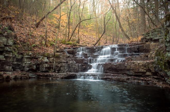 Cascade Falls in Cascade Recreation area near Roanoke, VA.