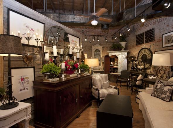 Furniture store interior