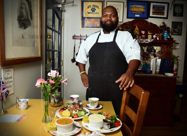 Chef Diamonte at The English Tea Room with Tammany Taste of Summer meals